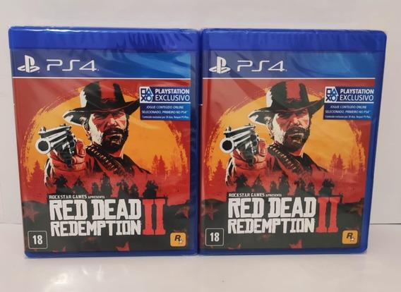 Red Dead Redemption 2 Ps4 Mídia Física Promoção Com Brinde