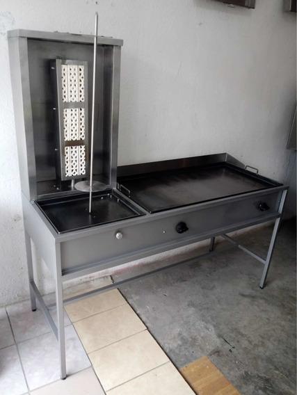 Mueble Taquero , Trompo 85 Kilos Plancha 1 Metro