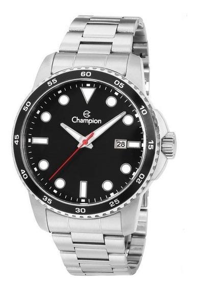 Relógio Champion Masculino Original Prateado Aprova D