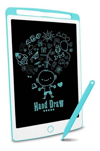 Imagen 1 de 6 de Pizarra Magica De Dibujo Para Niños Lcd Richg 10  Azul