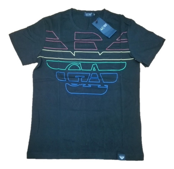 Playera Armani Exchange Moda Hombre Color Negro Talla M Pax
