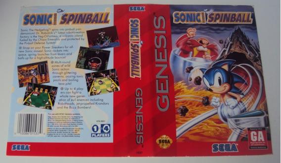 Encarte Sonic Spinball - Mega Drive
