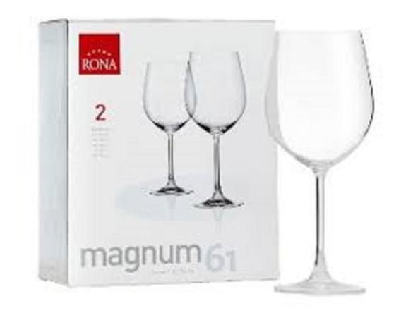2 Copas De Cristal Rona Magnun 610ml En Caja