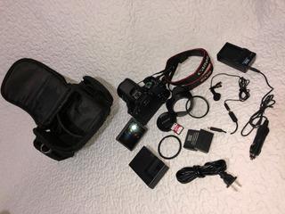Camara Canon T7i - 800d +estuche+bat+carg Carro+extras