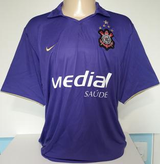 Camisa Corinthians Roxa Dentinho 2008 Nike Impecável - 89