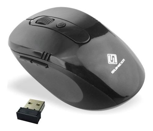 Imagem 1 de 3 de Mouse Sem Fio Wifi Usb 1600dpi Optico 3d Qualidade Cor Pret2