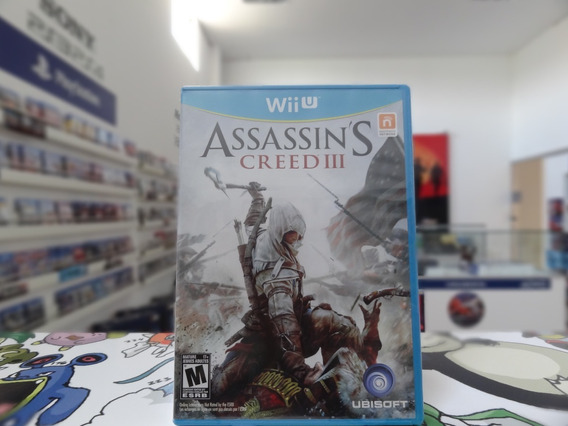 Assassins Creed Iii Wii U Lacrado Midia Fisica