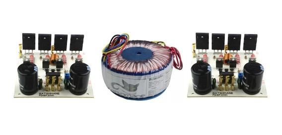 2 Placas Amplificador 200w Mono Com Fonte Com Transformador