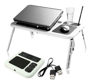 Mesa Portátil Notebook Doble Ventilador Cooler Base Mouse