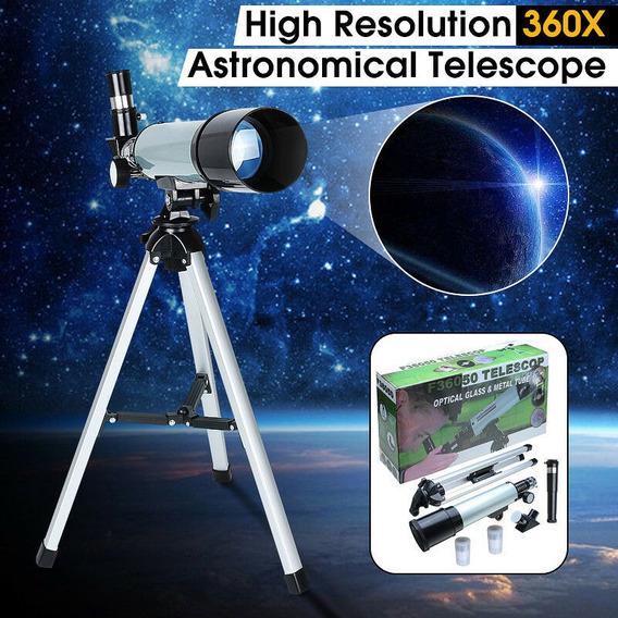Telescopio Binoculos Astronomico Profissional 360x50mm