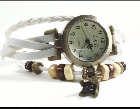 Relógio Feminino Pulseira Pingente Preto