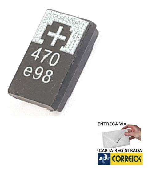 40pçs Capacitor De Tântalo Tantalo 470uf 2,5v Ps3 Frete 8,00
