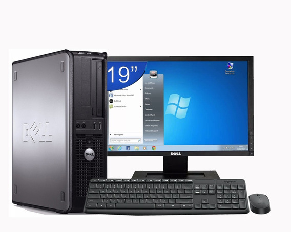 Cpu Dell Mini Optiplex Hd 500 4gb Ram + Monitor Dell 19