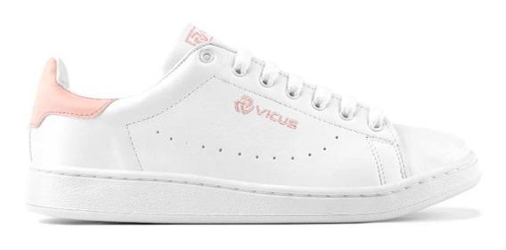Zapatillas Vicus Furo Blanco Y Rosa (2052)