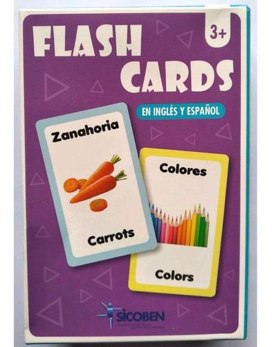 Set De Flash Cards Con Objetos Y Personas - Inglés Y Español