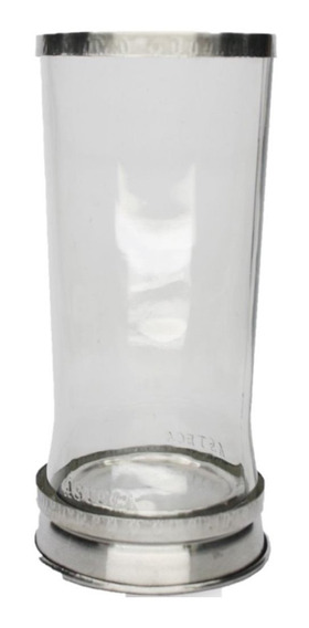 Porta Vela Vidro Transparente Base Alumínio Castiçal 7 Dias