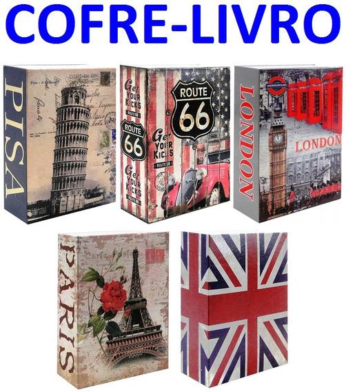 Cofre Camuflado Forma De Livro 2 Chave Porta Joia