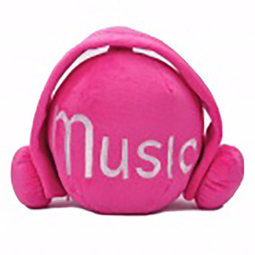 Cute Short Plush Headset Ball Style Cd Stor Pronta Entrega