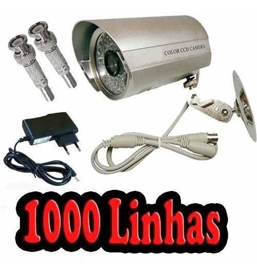 Câmera Ccd Sensor Sony 1000l 50m Infravermelho Com Fonte,