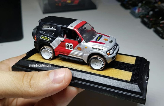 Mitsubishi Pajero Rally - Hot Wheels Custom 1/64 Welly