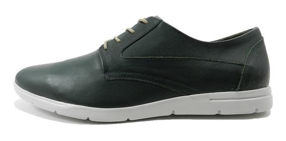 Zapatos Morris Cuero Verde Musgo 1387