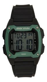 Relógio Mormaii Digital Wave Preto Com Verde Moy1516/8v