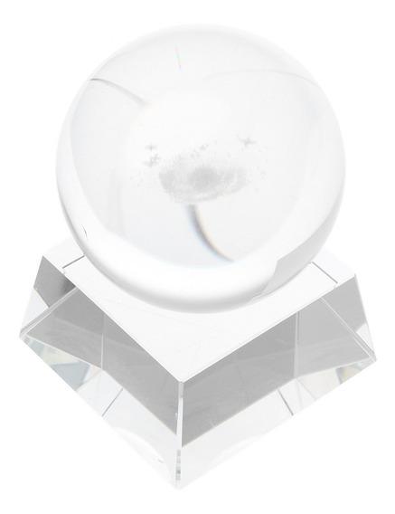 Esfera De Cristal De Vidro Claro Esfera Galaxy Orb Fotografi