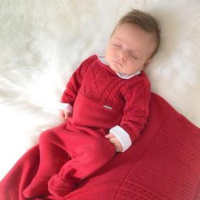 Saida De Maternidade Luxo Paraiso Bebê Menino Fio Ref 7956