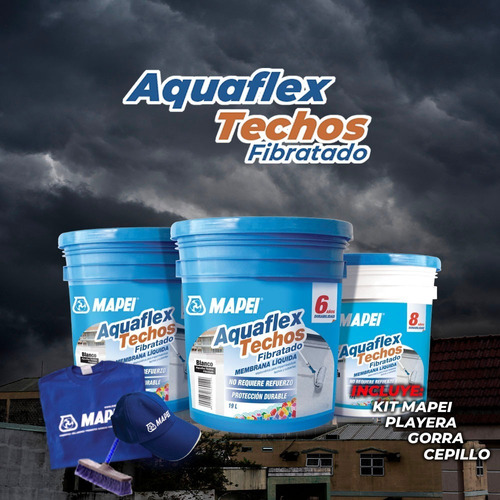 Impermeabilizante Acrílico Aquaflex 6 Años Blanco O Rojo