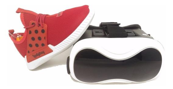 Tênis Infantil Ladybug Com Óculos De Realidade Virtual 21744