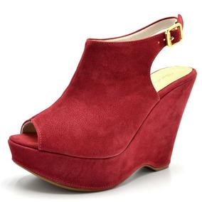 ef259f8feb Sandalia Anabela Veludo - Sapatos no Mercado Livre Brasil