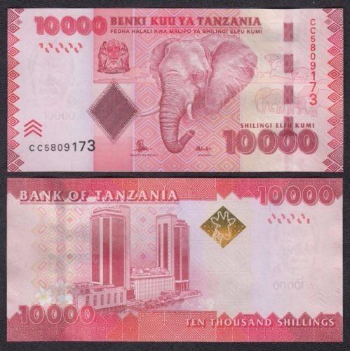 Tanzania P-44b Fe 10.000 Shilingi Nd ( 2015 ) * C O L *