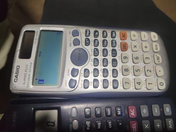 2 Calculadoras Científica Fx 82 Ms E Fx-991 Es Plus