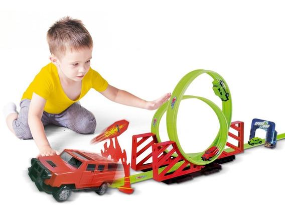 Hot Pista De Carrinho Infantil Looping 360 Fricção Carrinhos