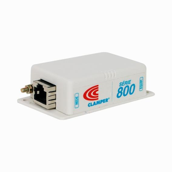 Supressor De Surtos E Raios - Clamper S800 Ethernet 100/1000
