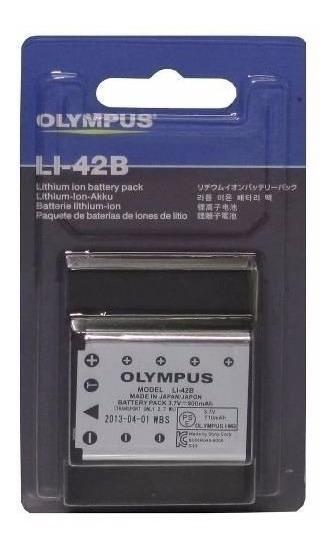 Bateria P/ Câmera Digital Olympus (li-42b) Kit Com 3