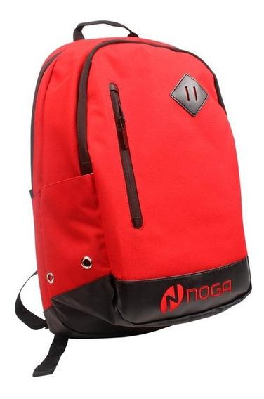 Mochila Noga Roja Porta Notebook Impermeable Deportiva