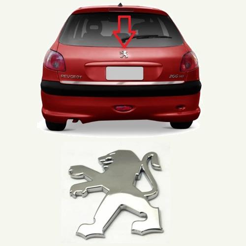 Imagem 1 de 2 de Emblema Logo Simbolo Peugeot 206 207 Tampa Porta Mala