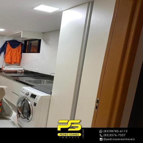 (oportunidade)  Apartamento Com 3 Dormitórios À Venda, 144 M² Por R$ 1.000.000 - Jardim Oceania - João Pessoa/pb - Ap4608