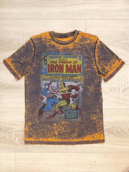 Remera Estampada Iron Man Marvel Original