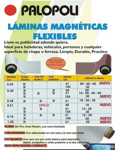 Iman Blanco P/impr Rollo Ancho 0.61m Palopoli Espesor 0.76mm