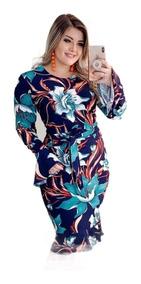 197a89cf3055ad Vestidos Femeninos Casual Longo com o Melhores Preços no Mercado ...