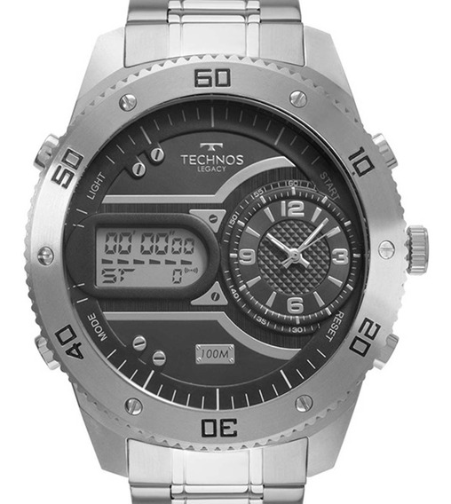 Relógio Technos Masculino Legacy Prateado 2039cc/4p + Nfe