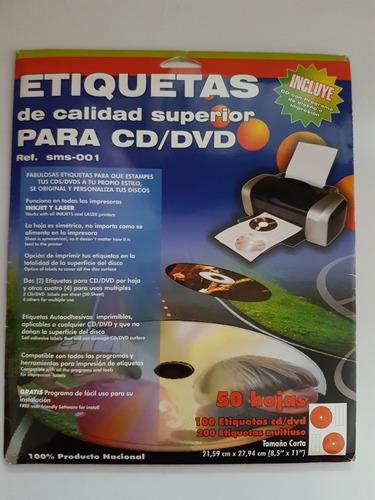 100 Etiquetas Autoadhesivas Para Cd/dvd