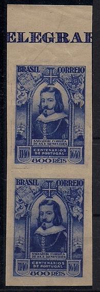 Brasil Variedade - C-166 - Prova Cor Azul Escuro - Par Nnn