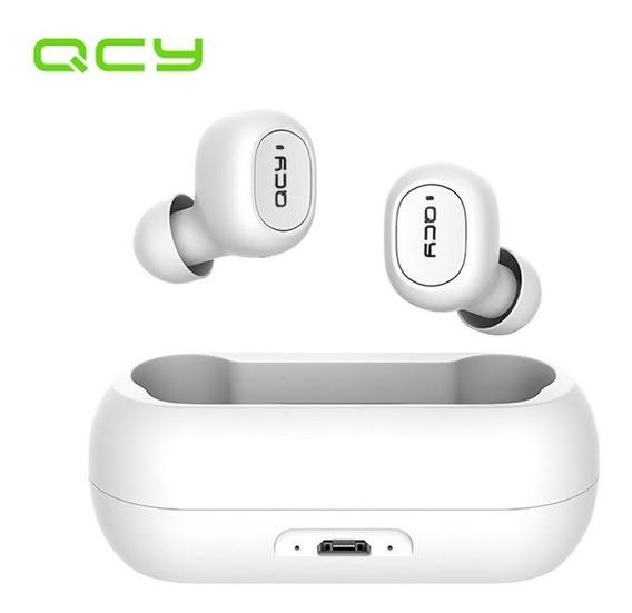 Fone De Ouvido Bluetooth Qcy Qs1/t1c Branco