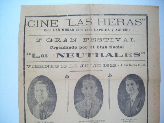 Antiguo Cine Teatro Publicidad 1923