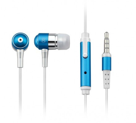Fone De Ouvido Com Microfone, Azul P2 - Ph060