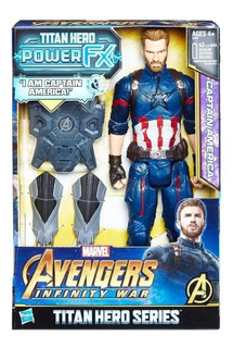 Figura Capitán América - Titan Hero - Avengers - Hasbro
