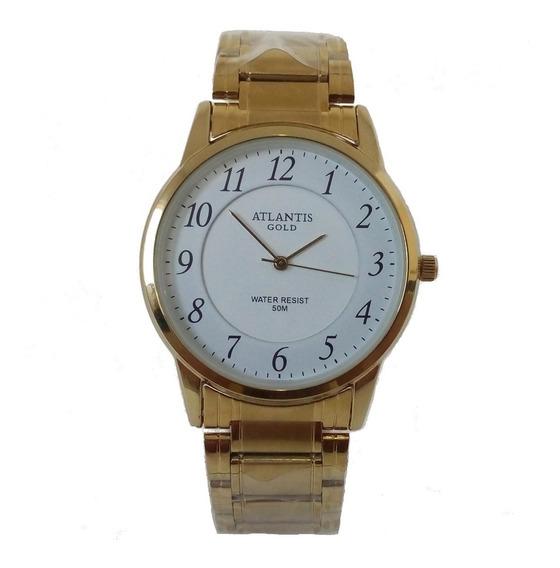 Relógio Masculino Atlantis A3055 Slim Original A Prova Dágua